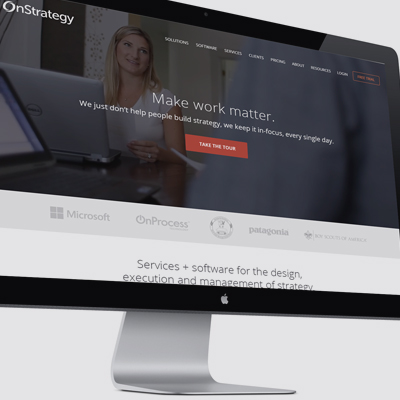 OnStrategy - Logo and website redesign